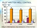 pilot written well control test b