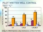 pilot written well control test c