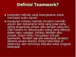 definisi teamwork