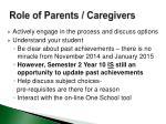 role of parents caregivers