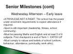 senior milestones cont