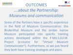 outcomes about the partnership museums and communication2