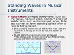 standing waves in musical instruments