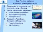 best practice on tanker emissions energy efficiency