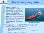 fuel efficiency design index
