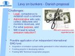levy on bunkers danish proposal