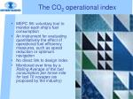 the co 2 operational index