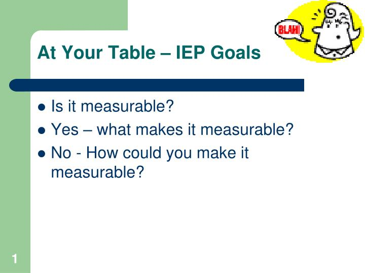 at your table iep goals n.