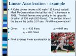 linear acceleration example2