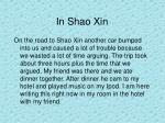 in shao xin