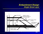 embankment design single shred layer
