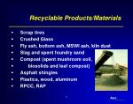 recyclable products materials