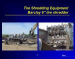 tire shredding equipment barclay 6 tire shredder