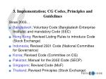 3 implementation cg codes principles and guidelines