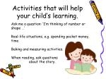 activities that will help your child s learning