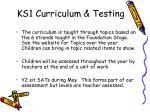 ks1 curriculum testing