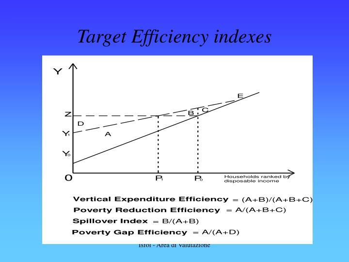Target Efficiency indexes