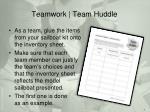 teamwork team huddle