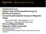 agenda based upon priority