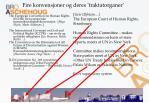 fire konvensjoner og deres traktatorganer
