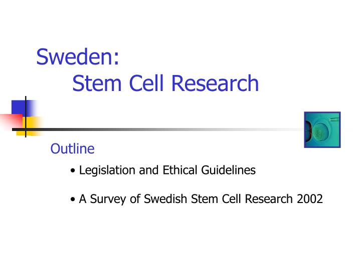 Sweden stem cell research