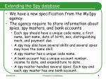 extending the spy database