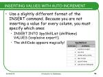 inserting values with auto increment
