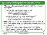specifying table together with column name