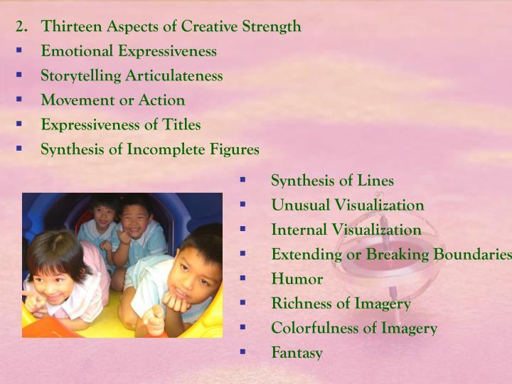2.   Thirteen Aspects of Creative Strength