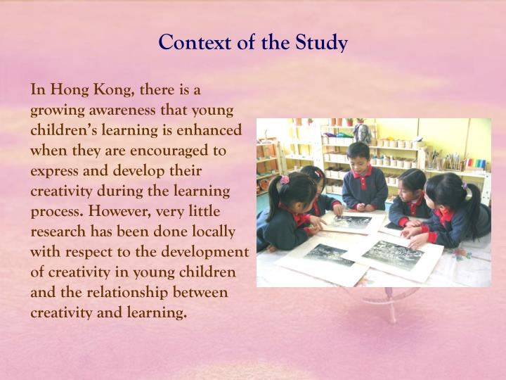 Context of the Study