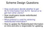 scheme design questions