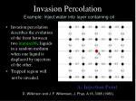 invasion percolation