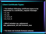 client certificate types