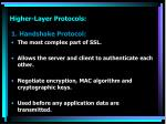 higher layer protocols