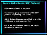 secure socket layer ssl protocol