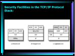 security facilities in the tcp ip protocol stack