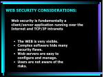 web security considerations