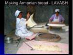 making armenian bread lavash