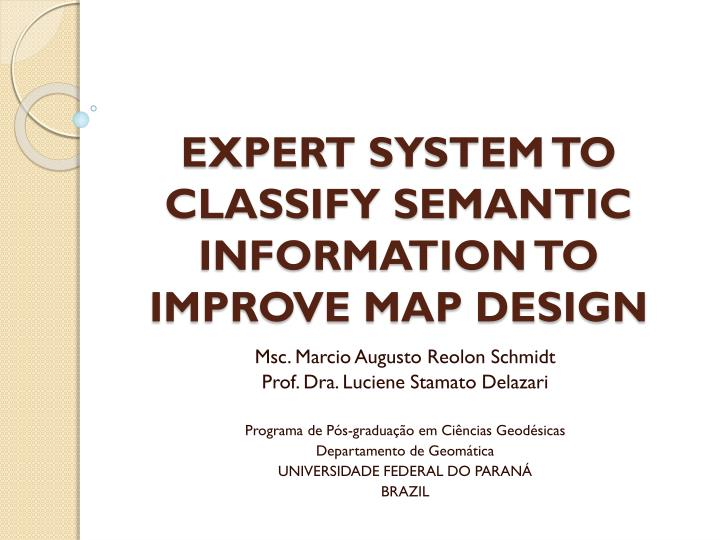 expert system to classify semantic information to improve map design n.