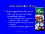 dunia pendidikan digital