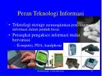 peran teknologi informasi1