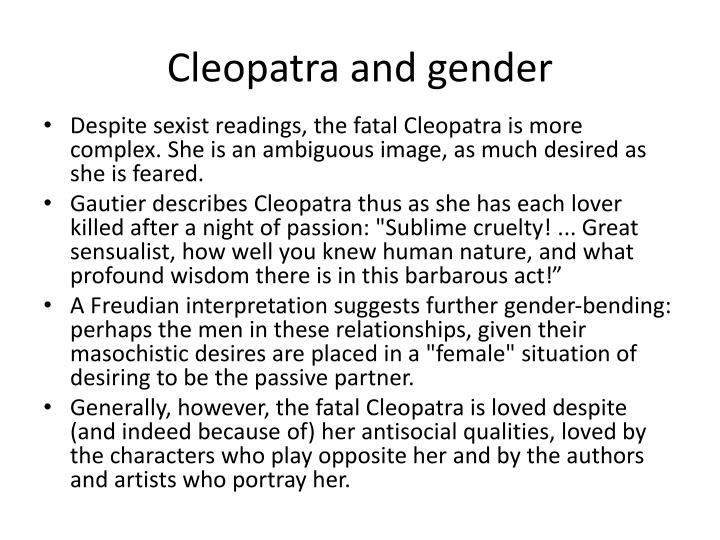 Cleopatra and gender