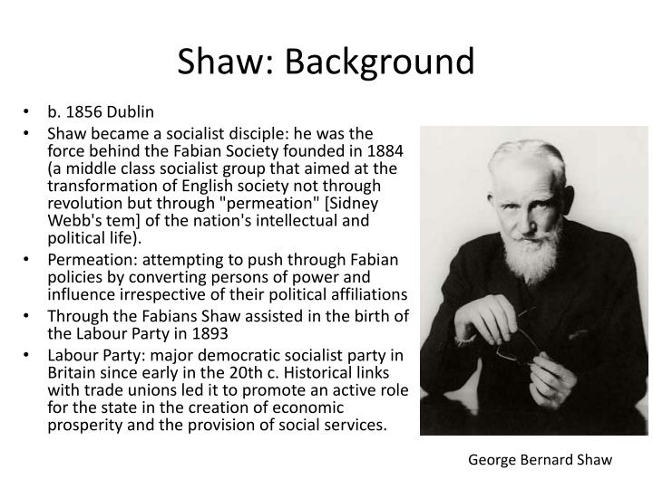 Shaw: Background