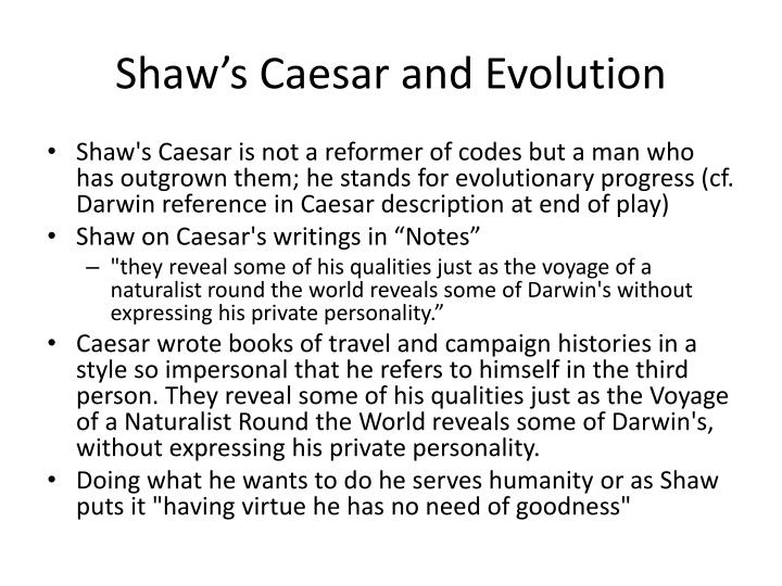 Shaw's Caesar and Evolution
