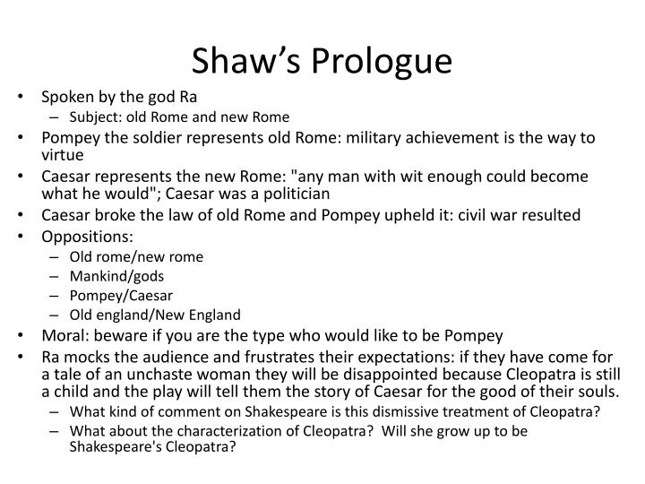 Shaw's Prologue