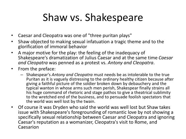Shaw vs. Shakespeare