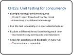 chess unit testing for concurrency