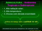 agricultura ambientes tropicais e subtropicais