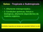 solos tropicais e subtropicais