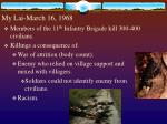 my lai march 16 1968
